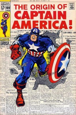 Captain America #109 Origin Issue - Bounty Reward $2.00